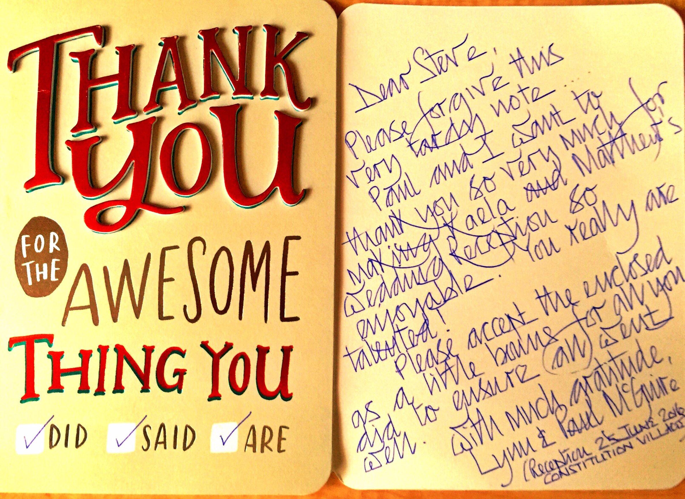 Thank You For The Thank You Letters Metropolitan Disc Jockey