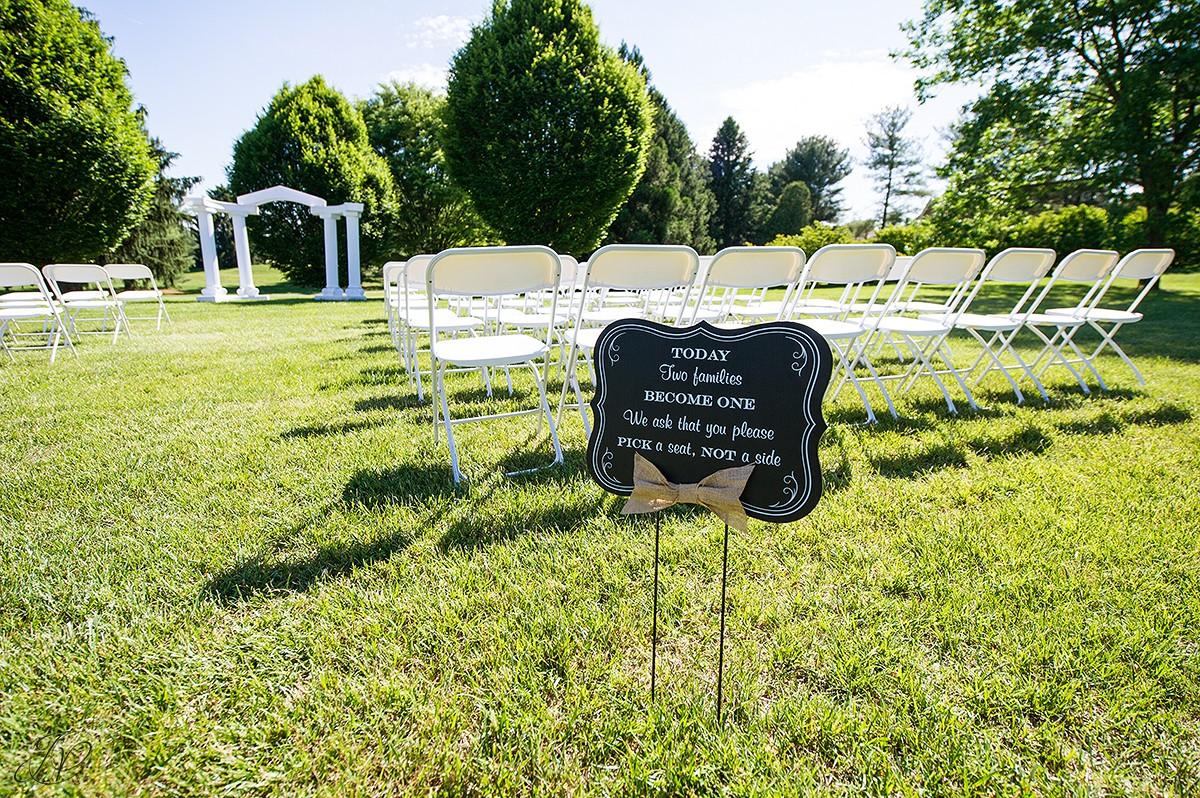 wedding ceremony at Shenandoah valley golf club