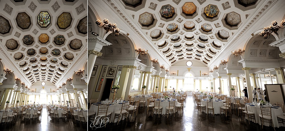 beautiful details of ballroom at canfield casino