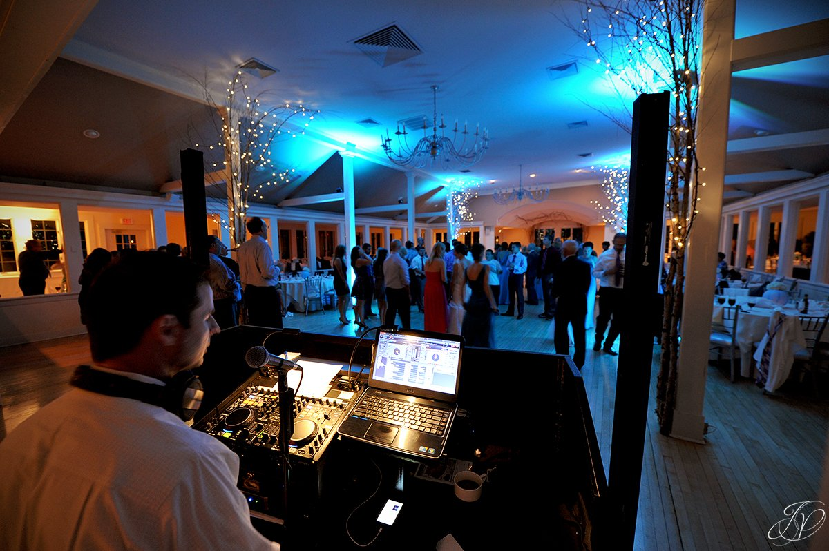 behind the DJ booth reception photo