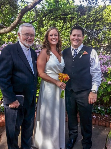 Chris and Meredith at their Dallas Arboretum wedding