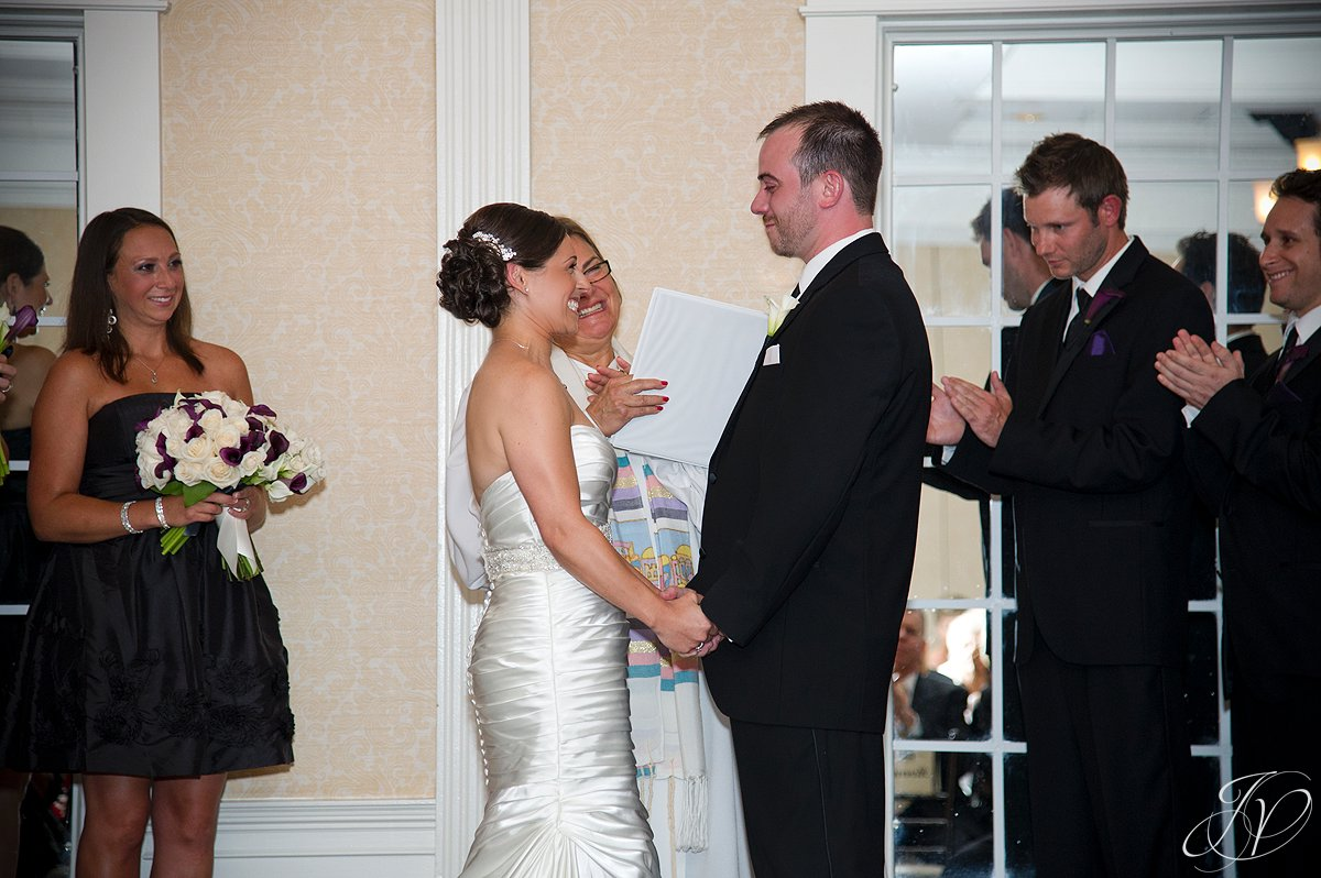 wedding ceremony photo, bride and groom at alter photo, The Glen Sanders Mansion, Albany Wedding Photographer