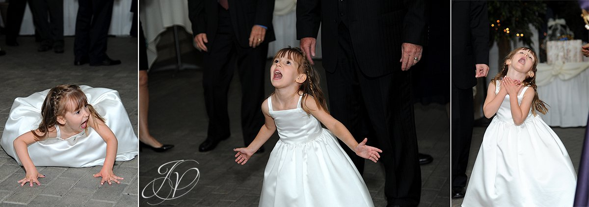 flower girl dancing, wedding reception photo, schenectady wedding photographer