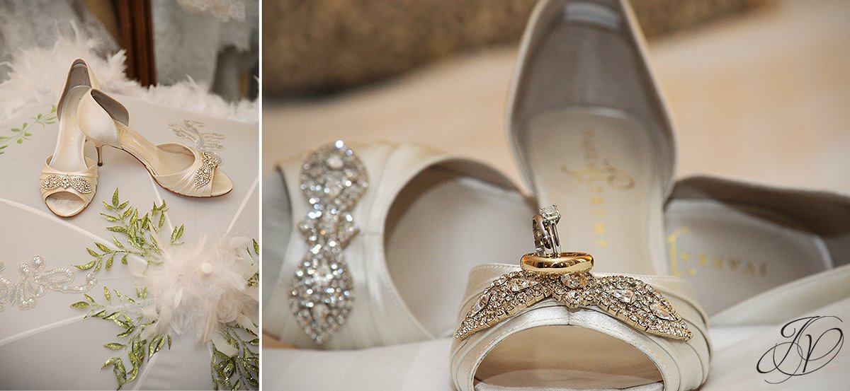 wedding jewelry photo, wedding shoes photos, wedding ring detail photos, Wedding at The Pruyn House, Albany Wedding Photographer