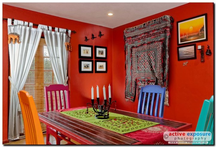 Bold and Colourful Dining Room