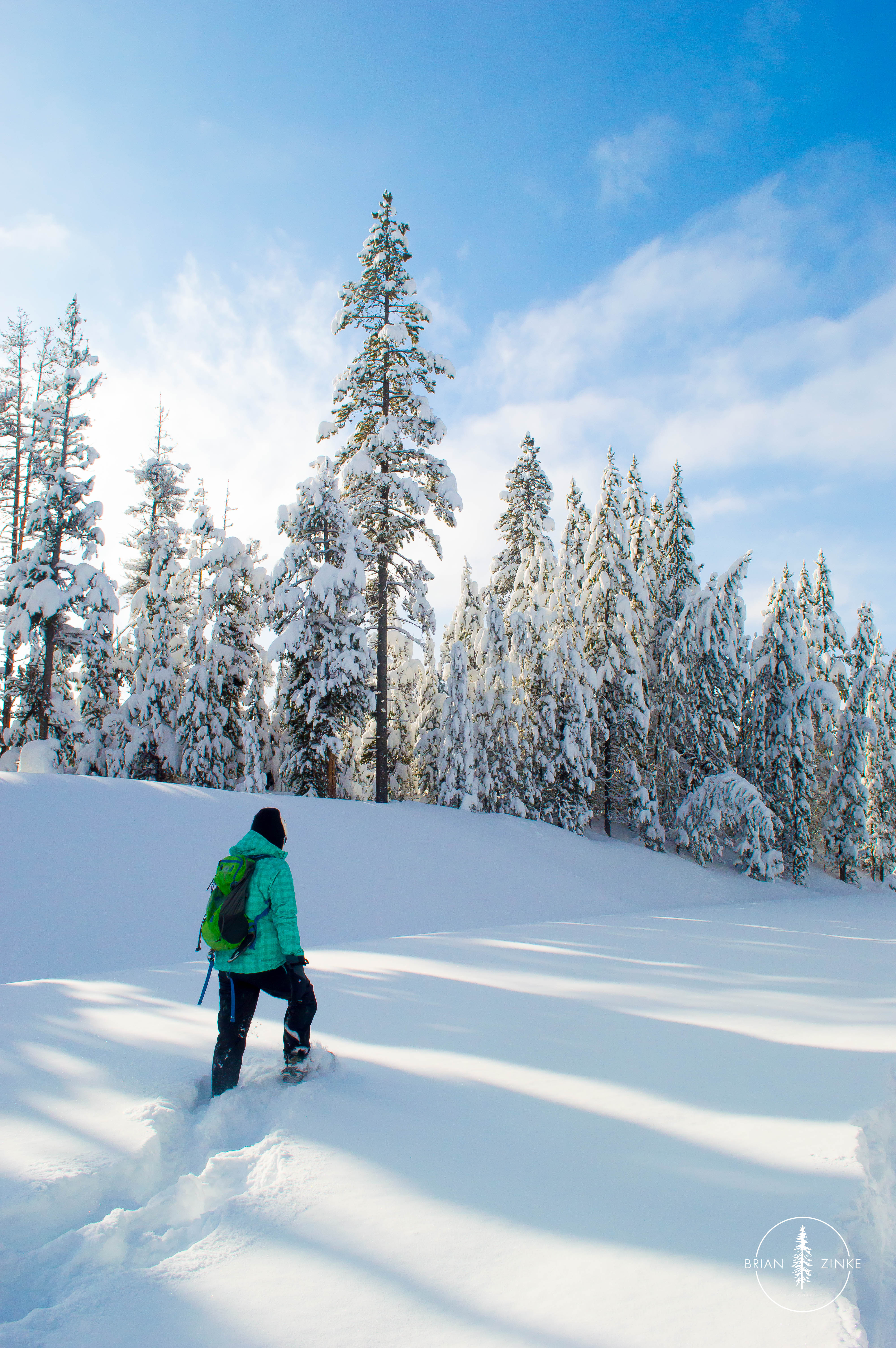 Yellowstone National Park, snowshoeing, Brian Zinke Photography, snowshoe