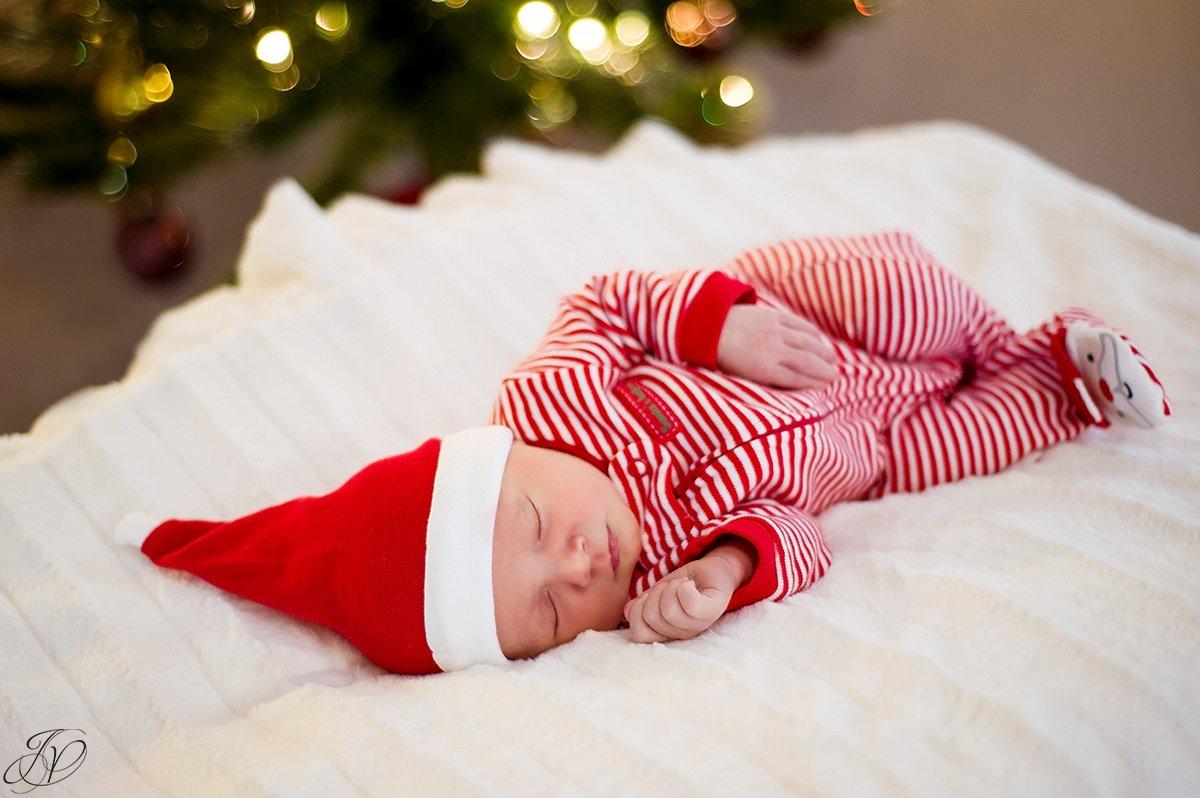 adorable holiday newborn baby girl