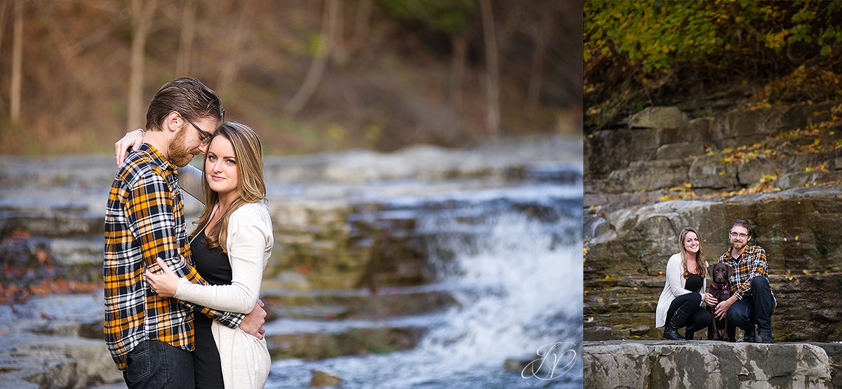 romantic fall engagement pictures