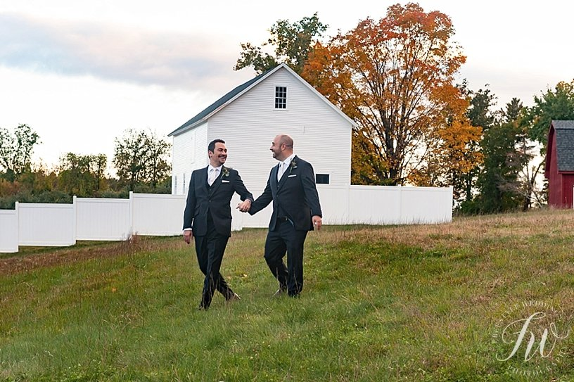 Same sex, two grooms, publick house wedding in sturbridge, ma