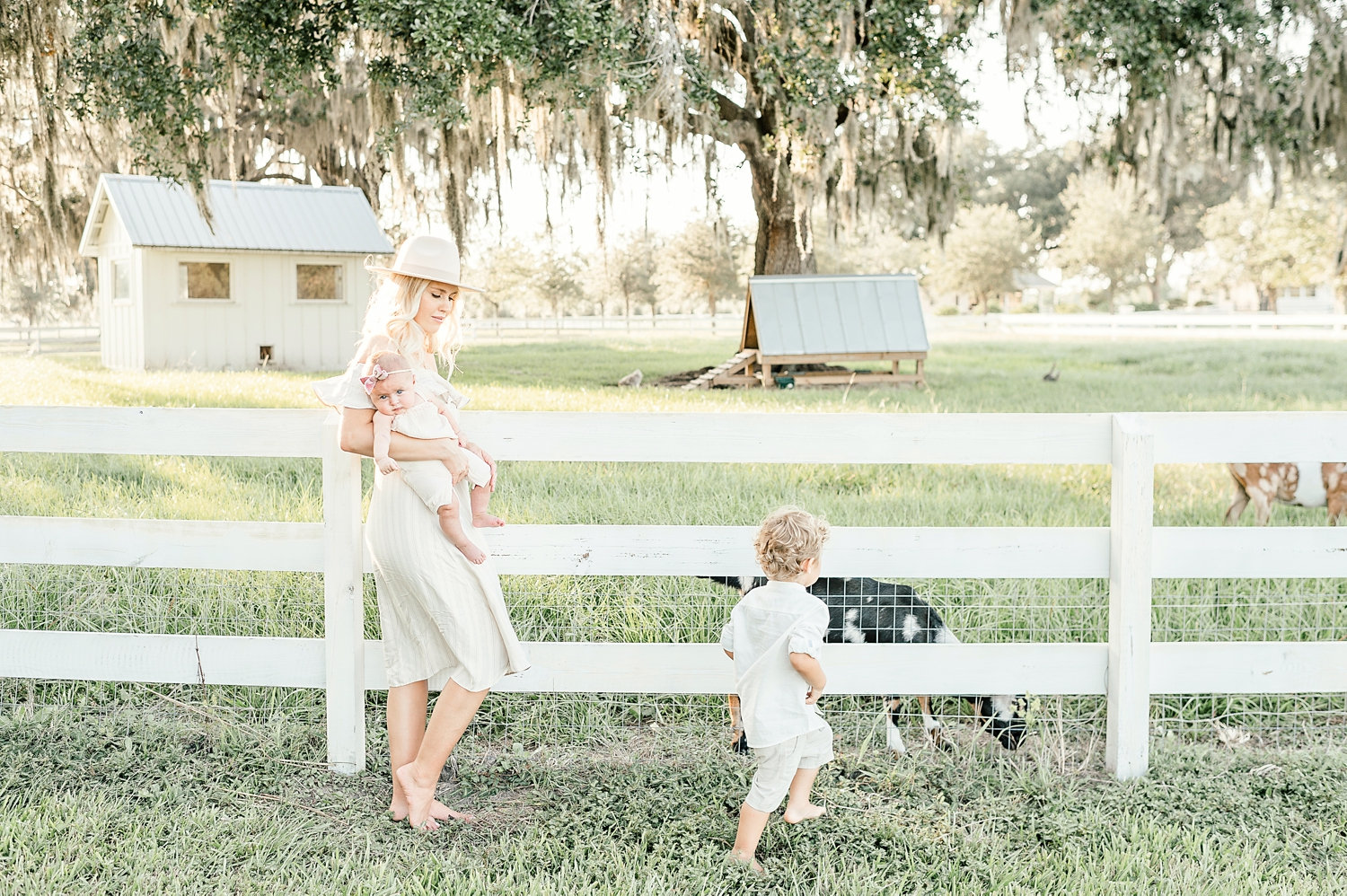 Lochte family, Congaree and Penn, spring family photo session, rustic family photo session, farm