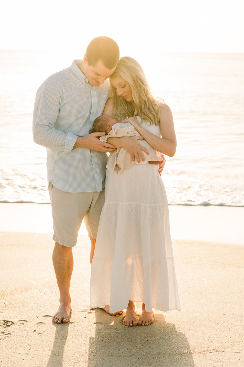 dad and wife and newborn son, Ponte Vedra coastal photographer