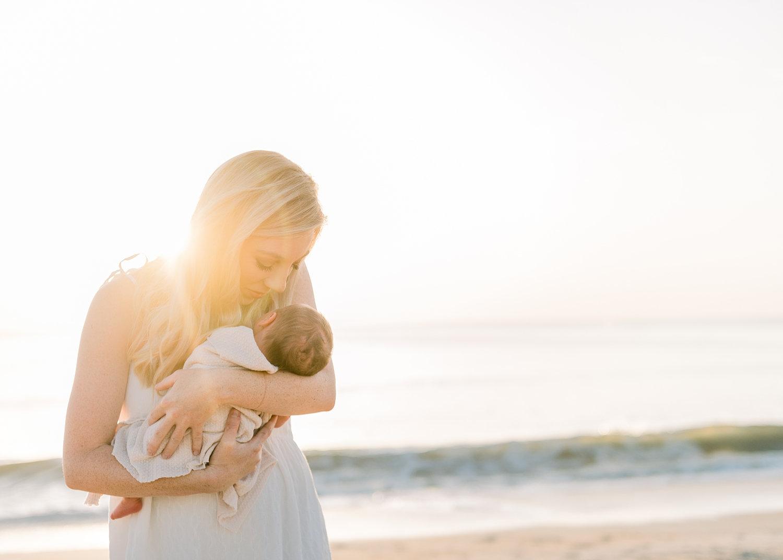 mother and newborn baby, Ponte Vedra Beach, Florida newborn photographer